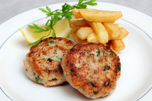 Котлеты из мяса кур с запеченным картофелем  (250г.)