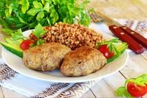Котлеты из мяса курицы  с гречкой (250гр.)