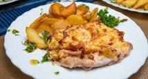 Мясо по-французски с запеч.картофелем (250гр.)